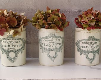 French Felix Potin Confiture Pot....Listing is for ONE Pot...