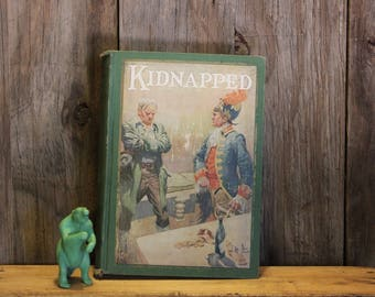 Kidnapped Book by Robert Louis Stevenson 1925 Reading Vintage Antique 1920s 20s (L)