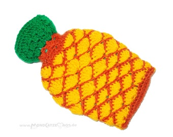 "small hot water bottle ""PINEAPPLE"""