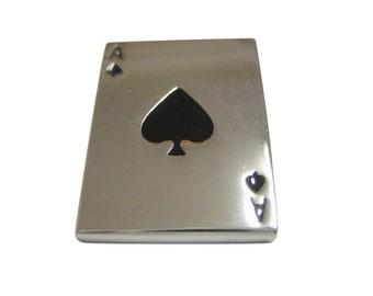 Shiny Ace of Spades Pendant Magnet