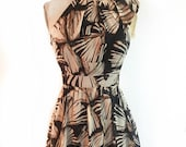 TROPIC Short Halter Dress in Black and Brown