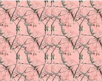 RealTree Pink Fleece Blanket Fabric-RealTree Camo Fleece-Sold by the Yard