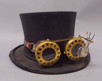 Steampunk goggles with magnifiers