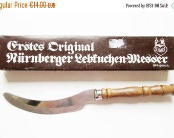 SUMMER SALE - Rustic German Vintage Original Nürenerger Gingerbread Knife for cutting Round German Lebkuchen, Made in Germany