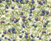 2 yards of cotton Blueberry fabric - Design by Susan Winget - Reserved for Connie