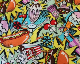 Alexander Henry Midnight Snack flannel cotton fabric by the yard - Novelty fabric
