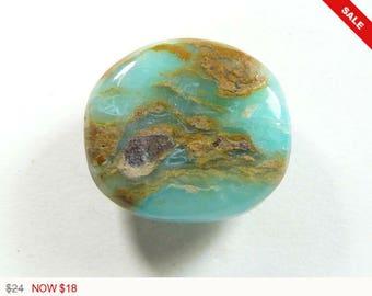 Peruvian Opal Cabochon, 24x21x6.2 mm, designer cabochon, gemstone cabochons, flat back cabochons, natural stone cabochons (po31472)