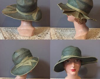 1920s cloche hat / wide brim cloche hat