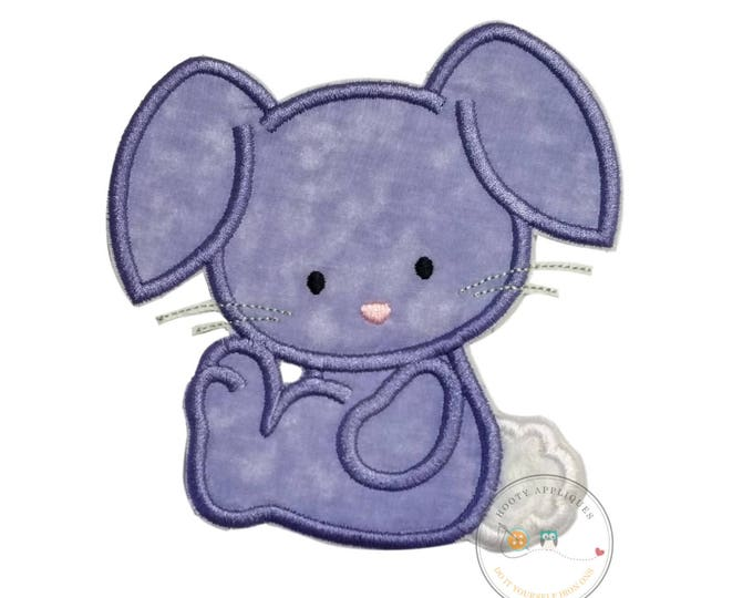 Cotton tail bunny iron on patch, Purple bunny applique, Machine embroidered Easter bunny patch, Personalize Easter patch, Ready to ship