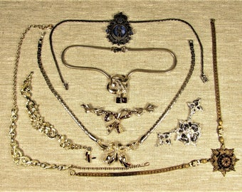 Harvest Repair Craft Jewelry Lot - Vintage Designer Necklace Parts