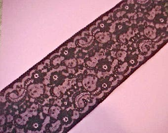 Beautiful Wide Edwardian Era Black Lace by the Yard-Old Mercantile Store Stock
