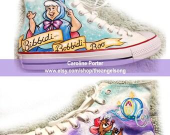 Cinderella Custom Painted Shoes Disney
