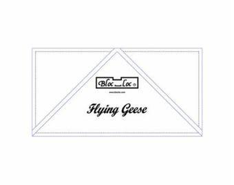 "Flying Geese Bloc Loc - 3"" X 6"""