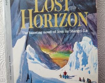 Lost Horizon Shangri-La James Hilton 1960s Paperback Edition Mid Century Cover Illustration Blue Moon Hugh Conway Utopian Novel Tibet