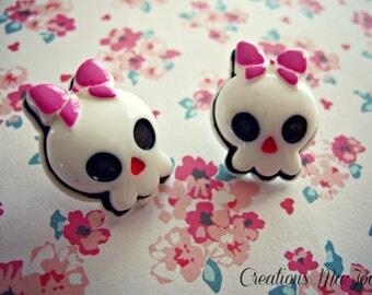 Boucles d'oreilles ''Bubble skulls''