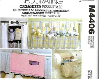 McCall's 4406 Organizer Essentials Sewing Pattern, Garden Organizer, Pocket Caddy, Chair And Bed Caddy