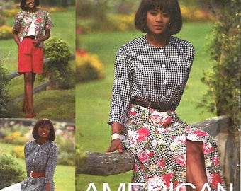 Simplicity 8241 American Classics Misses Tunic, or Top, Skirt And Pull-On Pants or Shorts Pattern, Size 6-10 & 12-16, UNCUT