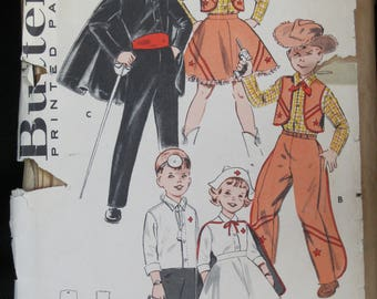 Vintage 1950/'s Kids Playing Doctor DIGITAL Cross-Stitch Pattern