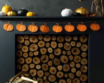 Halloween Pumpkin Garland - Halloween Decoration - Pumpkin Bunting - Halloween Banner - Autumn Decoration - Fall Garland - Party supplies uk
