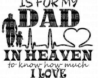 DAD IN HEAVEN svg/dxf/png