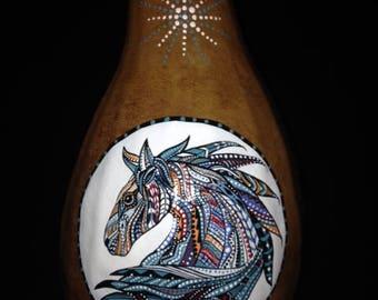 Gourd Zentangle Horse
