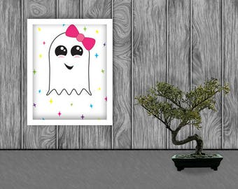 Ghostella Digital Art Print