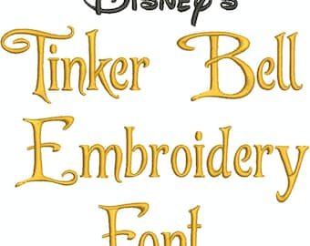 Tinker Bell Machine Embroidery Font