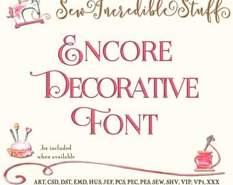 Encore Decorative Flourishes Machine Embrodery font