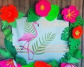Flamingo Backdrop, Hawaii...