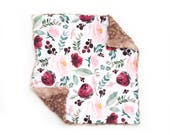 Lovey Wild At Heart Floral. Lovey. Floral Lovey. Pink Lovey. Mini Baby Blanket. Security Blanket. Lovie. Minky Lovey.