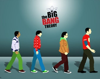 The big bang theory poster,digital print,fan art,The big bang theory print,gift ideas,geek art,Geek Decor,Sheldon Cooper,tv show poster