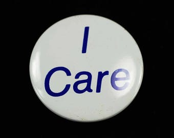 Vintage I Care Button
