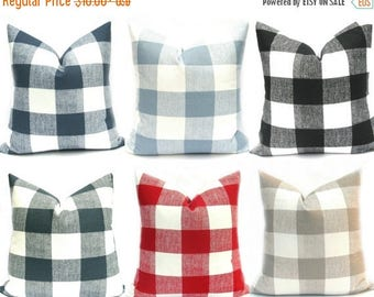 15% Off Sale Buffalo Check Pillow, Decorative Pillow, Plaid Pillow, Gray Pillow ,black buffalo check, Red pillow, Throw Pillows,  pillows, t