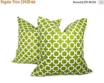 15% Off Sale Outdoor Pillow - Outdoor Pillow covers TWO Outdoor Decor - Green Pillow - Green Pillow Covers - throw Pillow Covers - Toss Pill