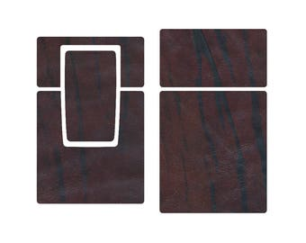 Replacement Skin for SX-70 Camera - Dark Brown, Striped Leather (free basic shipping)