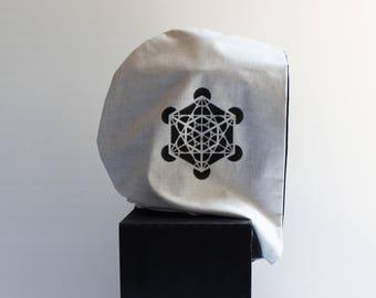 Desert Hoodie Metatron's Cube Sacred Geometry Hood