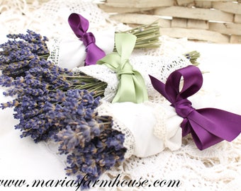 DRIED LAVENDER, Aromatic Dried Lavender, 2017 Harvest by Maria, Rustic Farmhouse Decor, Fragrant Lavender Bunch, Rustic Country Wedding