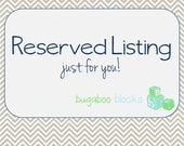 Reserved Listing - Set of 9 Blocks