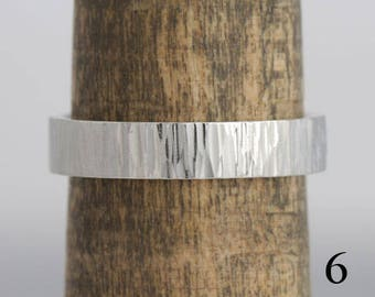 14k white gold wedding band, size 6 and custom sizes, #395.