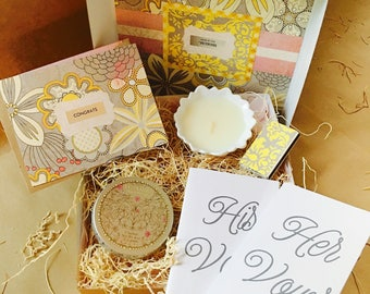 Mini Showered {Bride} Box {candle + vow books}