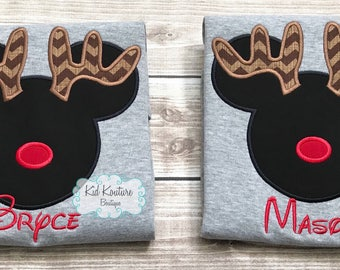Reindeer Mickey/Minnie Mouse shirt