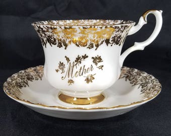 Royal Albert Mother Cup and Saucer England