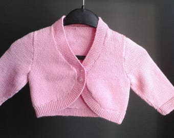 Hand Knitted Merino Baby Cardigan