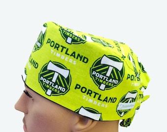 Unisex Scrub Cap - Portland Timbers Scrub Cap -  Scrub Hat - Scrub Cap - Doctors Gift - Nurses Scrub hats - Tech Caps - Nurse's Gift