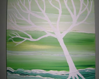 Emerald - Original Acrylic Painting - Stretched Gallery Canvas - 18 x 24