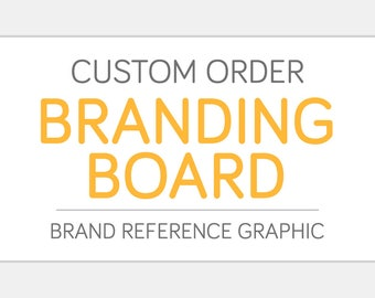 Custom BRANDING BOARD Design | Color Palette Fonts Type Pattern Inspiration | Business Identity Creative Graphic Design Art