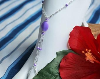 Purple Barefoot sandals Summer Footwear Foot Jewelry Beach Jewelry Bikini Accessories Bridesmaids Gift Lavender Foot Jewelry
