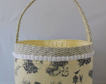 Easter Basket Made With Basket Patterned And Easter Toile