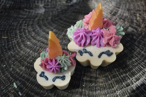 Cupcake Soap in Unicorn