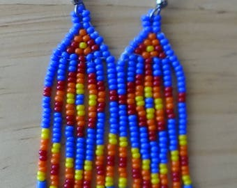 Southwest/ Native American Style Beaded earrings